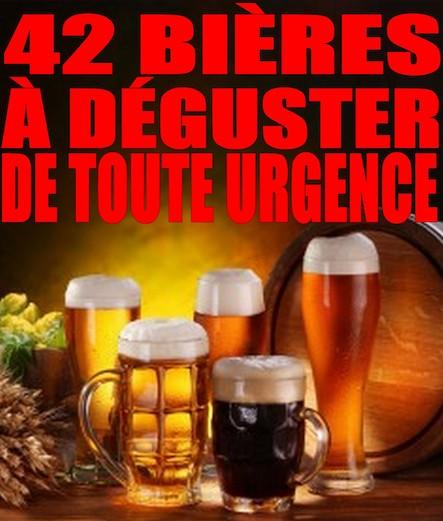 42 bières à déguster de toute urgence