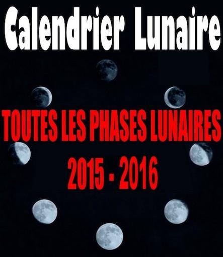 Calendrier lunaire 2015-2016
