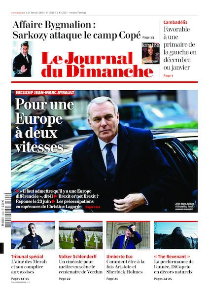 Journal du Dimanche - 21 Février 2016