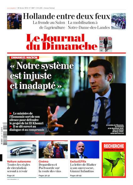 Journal du Dimanche - 28 Février 2016