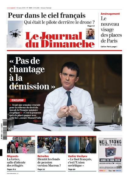 Journal du Dimanche - 6 Mars 2016