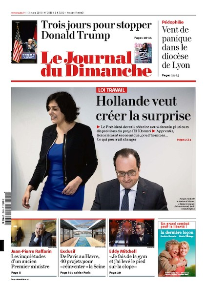 Journal du Dimanche - 13 Mars 2016