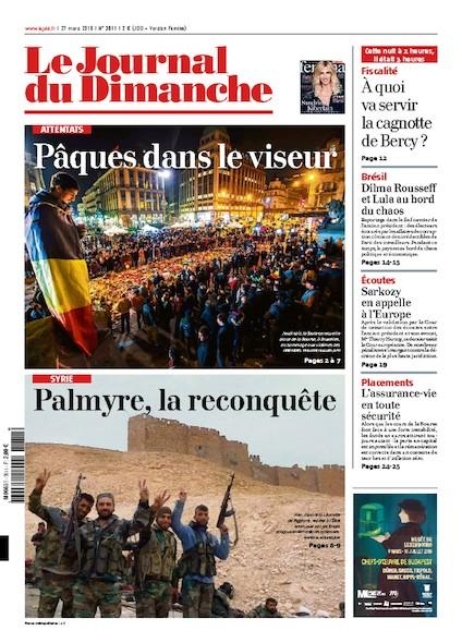 Journal du Dimanche - 27 Mars 2016