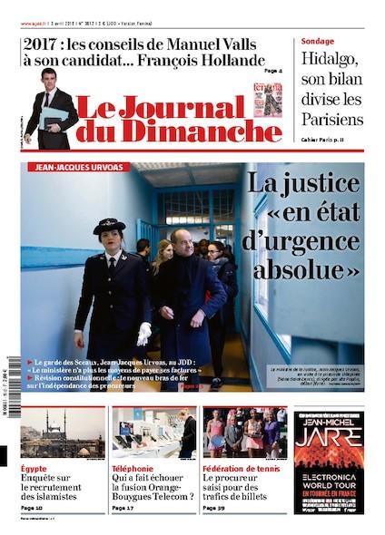 Journal du Dimanche - 4 Avril 2016