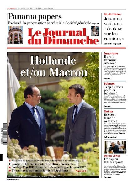 Journal du Dimanche – 10 Avril 2016