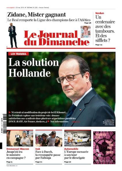 Journal du Dimanche - 29 mai 2016