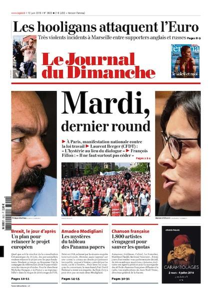 Journal du Dimanche - 12 juin 2016