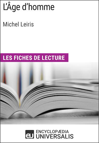L'Âge d'homme de Michel Leiris