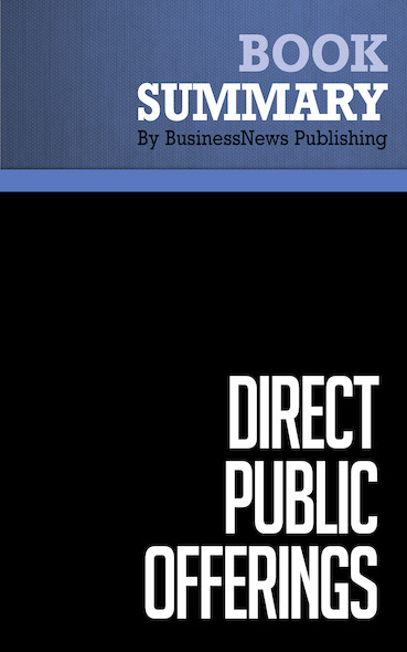 Summary: Direct Public Offerings - Drew Field