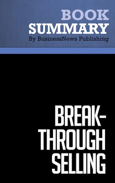 Summary: Breakthrough Selling - Barry Farber and Joyce Wycoff
