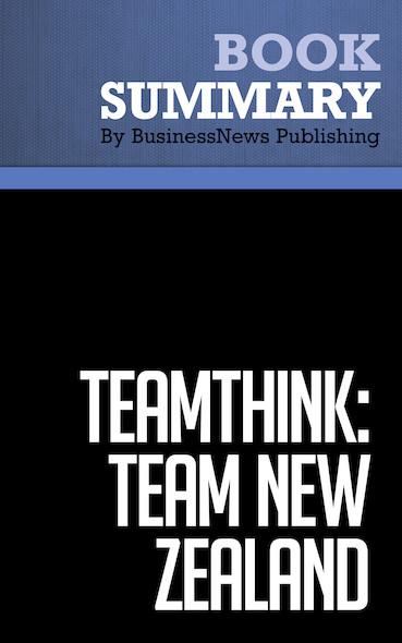 Summary : Teamthink: Team New Zealand - Pete Mazany