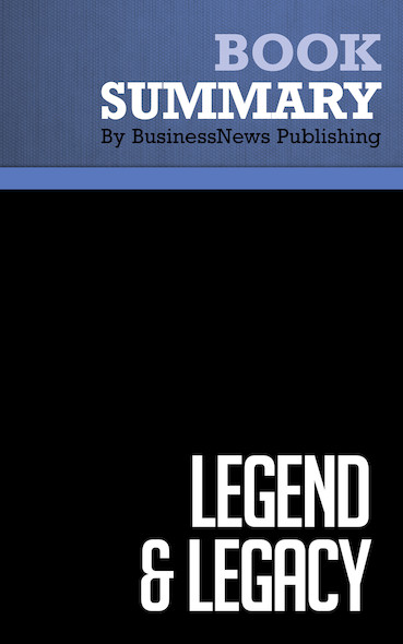 Summary : Legend & Legacy - Robert J. Serling