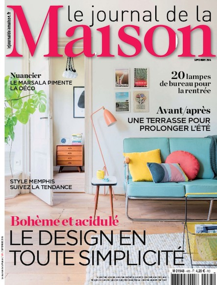Le Journal de la maison - Septembre 2016