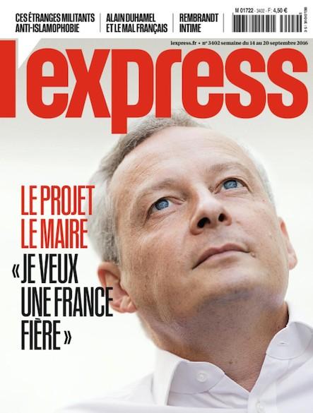 L'Express - Septembre 2016 - Le Projet Lemaire
