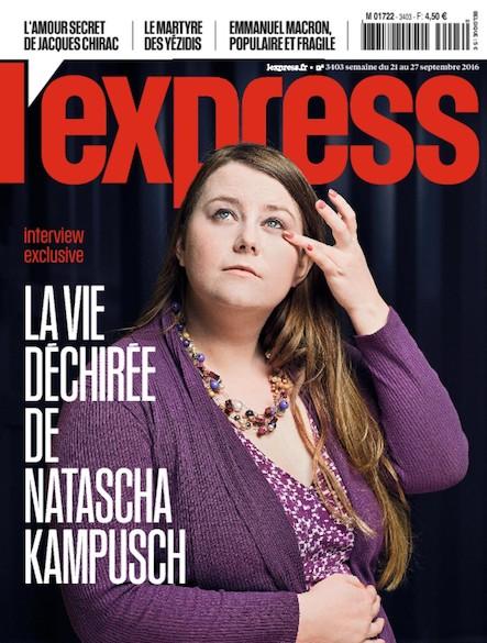 L'Express - Septembre 2016 - La Vie déchirée de Natascha Kampusch
