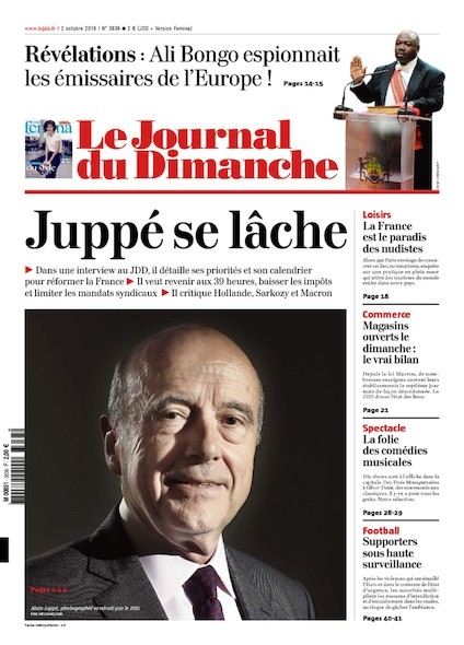 Journal du Dimanche - 2 Octobre 2016