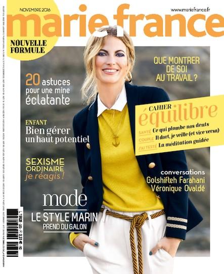 Marie France - Novembre 2016