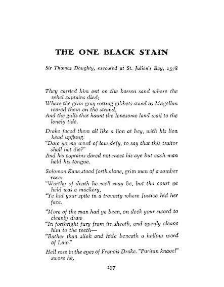 The One Black Stain