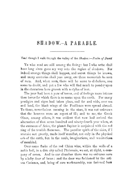 Shadow: A Parable