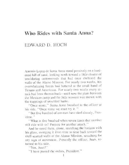 Who Rides With Santa Anna?