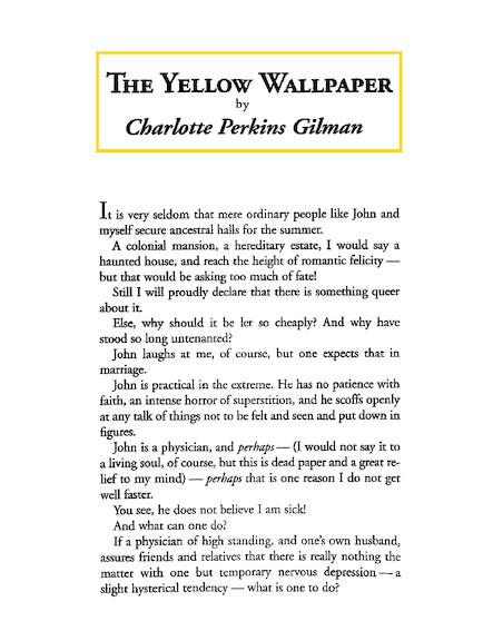 The Yellow Wallpaper - 2