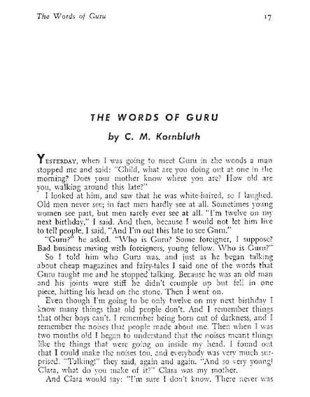 The Words Of Guru