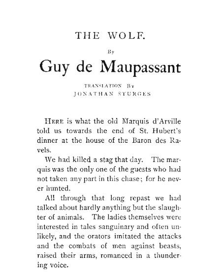 The Wolf (aka The White Wolf aka Le Loup)