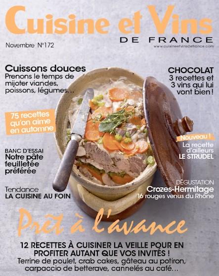 Cuisine et Vins - Novembre 2016