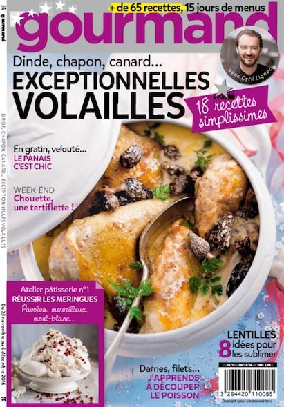 Gourmand - Du 23 novembre au 6 décembre 2016