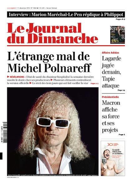 Journal du Dimanche - 11 Décembre 2016
