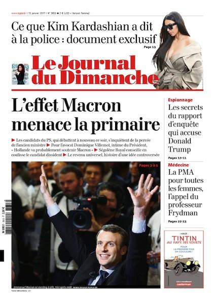 Journal du Dimanche - 15 Janvier 2017