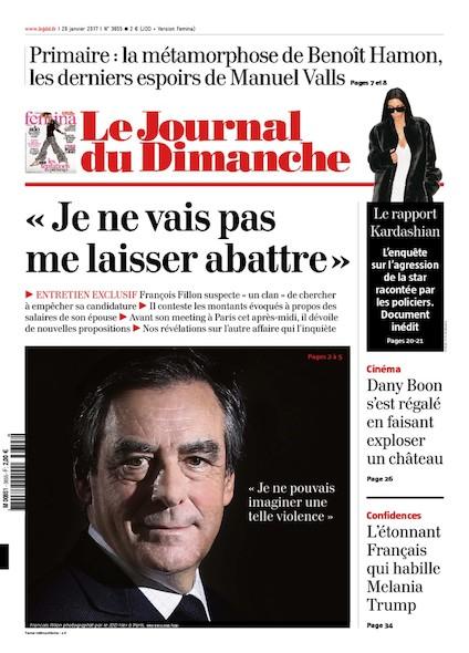 Journal Du Dimanche - 30 Janvier 2017