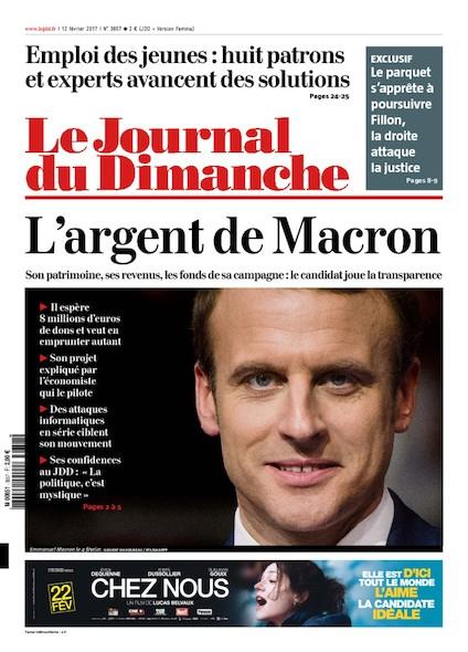 Journal du Dimanche - 12 Février 2017