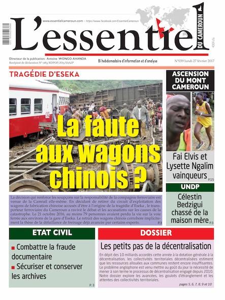 L'essentiel du Cameroun - Numéro 039
