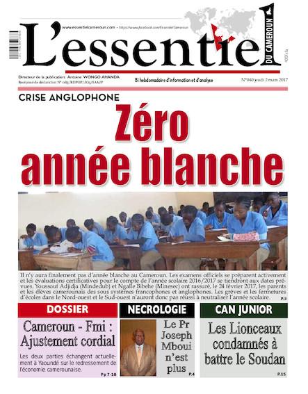 L'essentiel du Cameroun - Numéro 040
