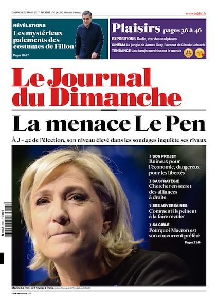 Journal Du Dimanche - 12 Mars 2017