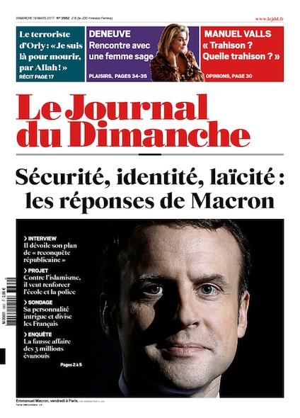 Journal Du Dimanche - 19 Mars 2017
