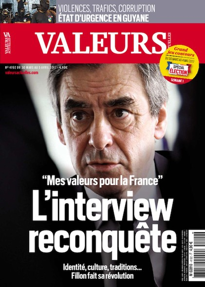 Valeurs Actuelles - Mars 2017 - L'interview reconquête