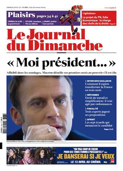 Journal Du Dimanche - 09 Avril 2017