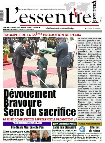 L'essentiel du Cameroun - Numéro 055