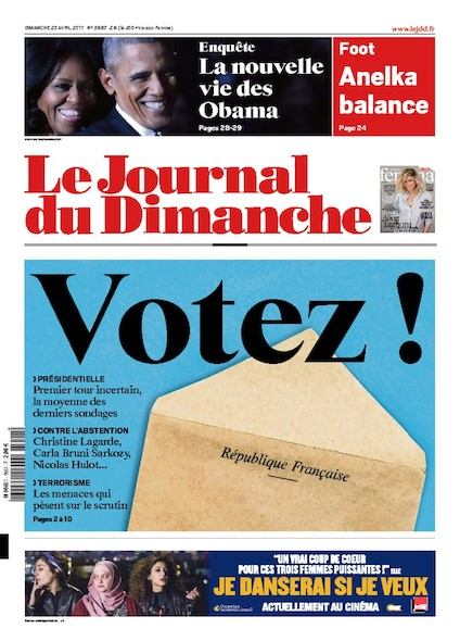 Journal Du Dimanche - 23 Avril 2017