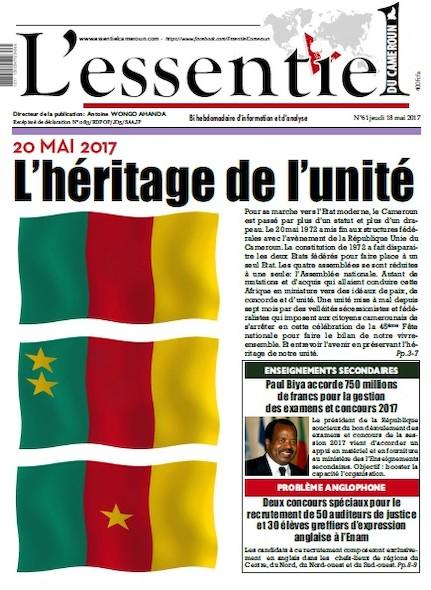 L'essentiel du Cameroun - Numéro 061