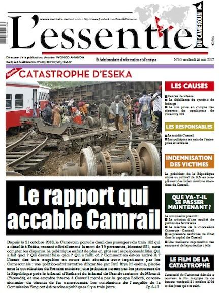 L'essentiel du Cameroun - Numéro 063