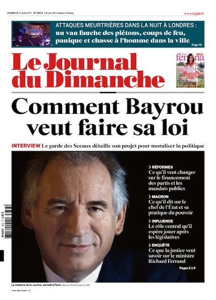 Journal Du Dimanche - 4 Juin 2017