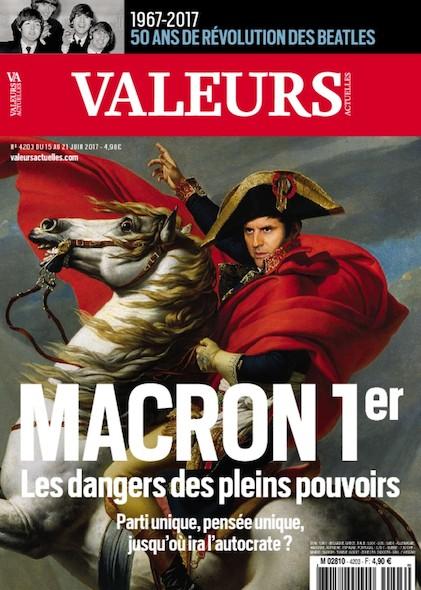 Valeurs Actuelles - Juin 2017 - Macron 1er