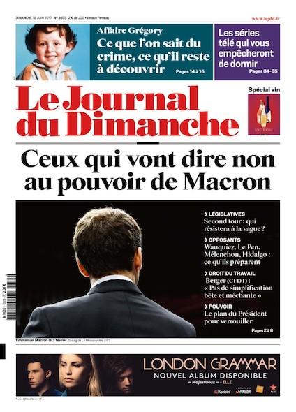 Journal Du Dimanche - 18 Juin 2017