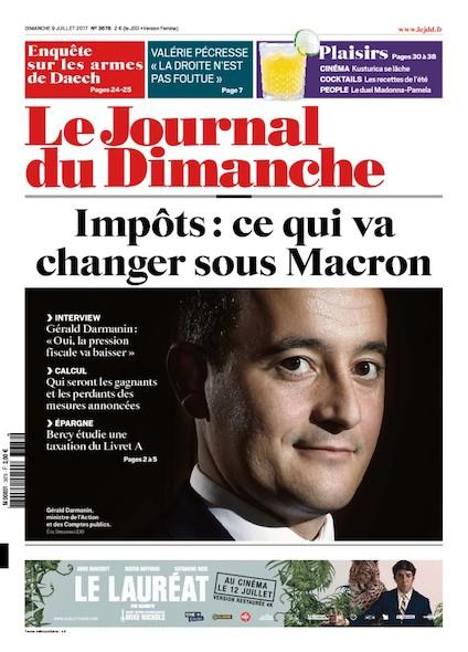 Journal Du Dimanche - 9 Juillet 2017