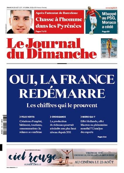 Journal Du Dimanche - 20 Août 2017