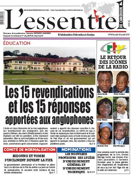 L'essentiel du Cameroun - Numéro 089