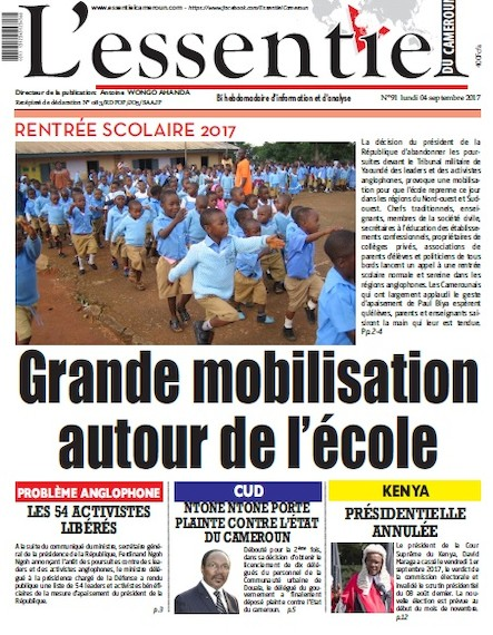 L'essentiel du Cameroun - Numéro 091